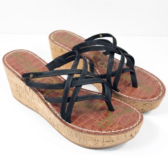 60ee1229ca5 Sam Edelman Randy Wedge Cork Sandals Size 8.5. M 5b843fb3bf772971157834e1